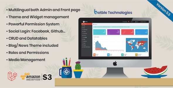 Botble - Laravel CMS, CRUD generator, Modular & Theme system, Role permissions, Multilingual blog - CodeCanyon Item for Sale