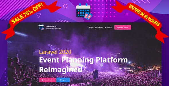Eventmie Pro - Multi-organization Event Management & Ticket Selling Platform