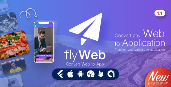FlyWeb for Web to App Convertor Flutter + Admin Panel