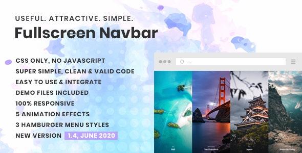 Fullscreen Navigation - CodeCanyon Item for Sale