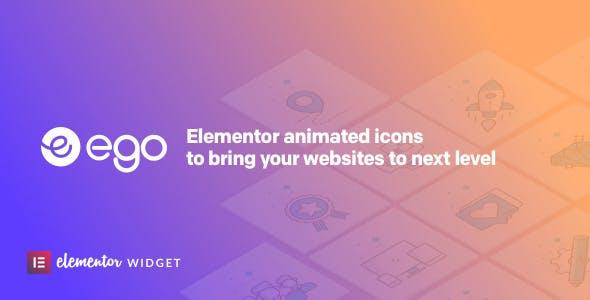 Ego animated icons - widget for elementor