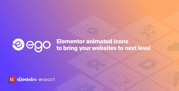 Ego animated icons - widget for elementor - CodeCanyon Item for Sale