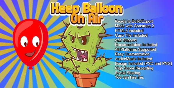 Keep Balloon on Air (CAPX and HTML5) - CodeCanyon Item for Sale