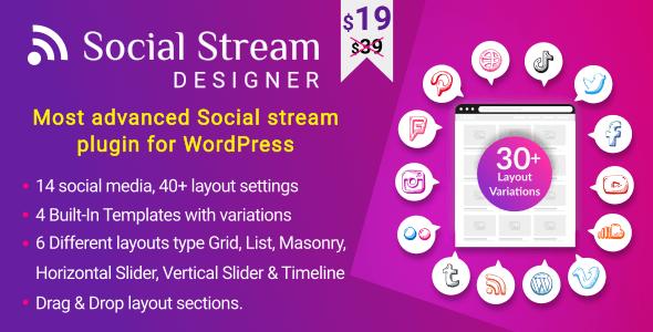 WP Social Stream Designer - CodeCanyon Item for Sale
