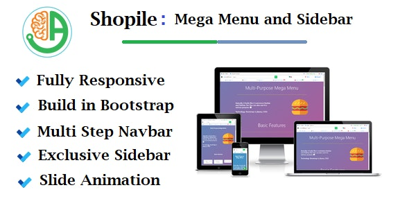 Shopile - Responsive Multi-purpose Bootstrap Mega Menu and Sidebar - CodeCanyon Item for Sale