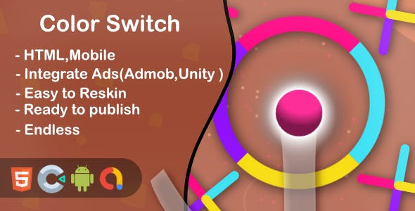 Color Jump Switch - Html5 Game and Mobile (Construct 3)
