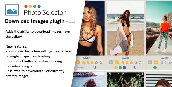 Download images plugin for Photo Selector - CodeCanyon Item for Sale