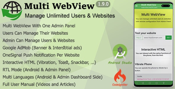 Multi WebView + Admin Panel - CodeCanyon Item for Sale