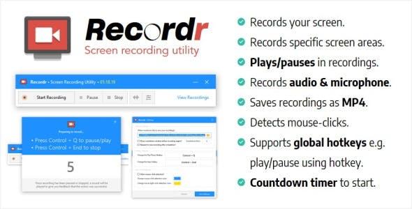 Recordr | Screen Recording Utility