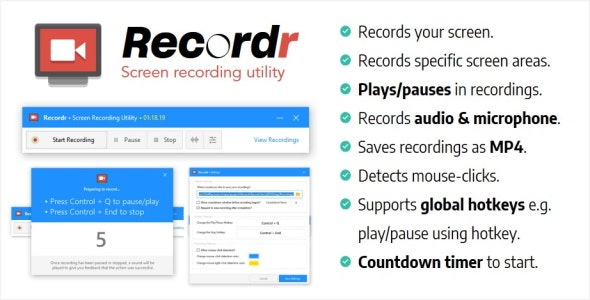 Recordr   Screen Recording Utility - CodeCanyon Item for Sale