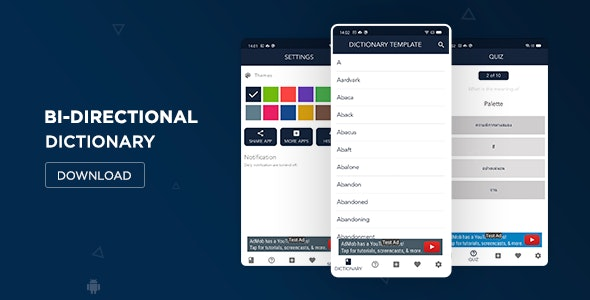 Bidirectional Dictionary for Android - CodeCanyon Item for Sale