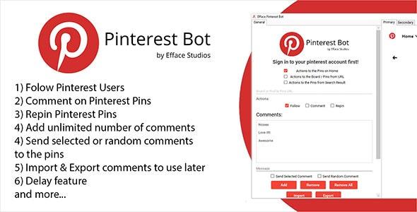Efface Pinterest Bot - CodeCanyon Item for Sale