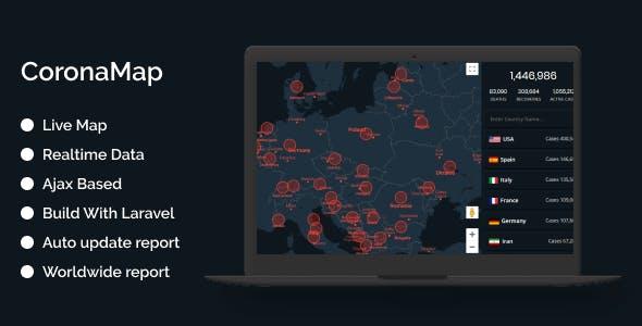 CoronaMap - Coronavirus Live Map Script