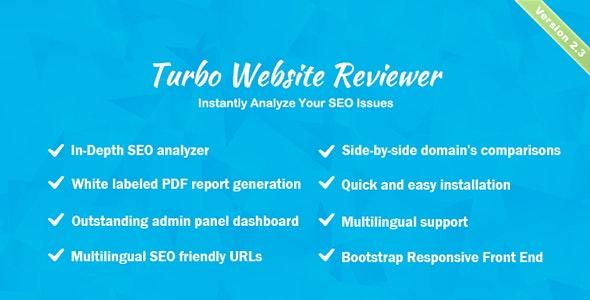Turbo Website Reviewer - In-depth SEO Analysis Tool - CodeCanyon Item for Sale