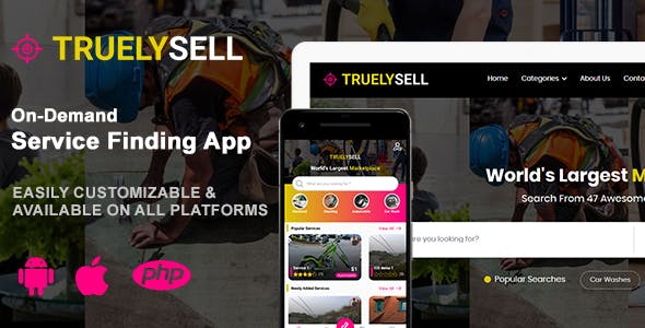 TruelySell – On-demand Service Marketplace, nearby Service Finder and Bookings Web, Android and iOS