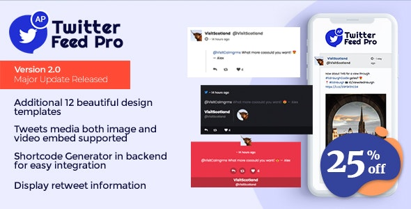 AccessPress Twitter Feed Pro - An Ultimate Twitter Feed Plugin to Generate Twitter Feeds - CodeCanyon Item for Sale