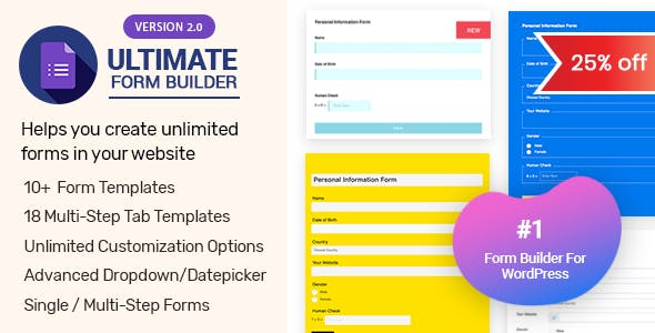 Ultimate Form Builder - #1 Form Builder For WordPress