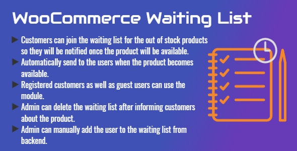 WooCommerce Waiting List   Pre-sale List - CodeCanyon Item for Sale