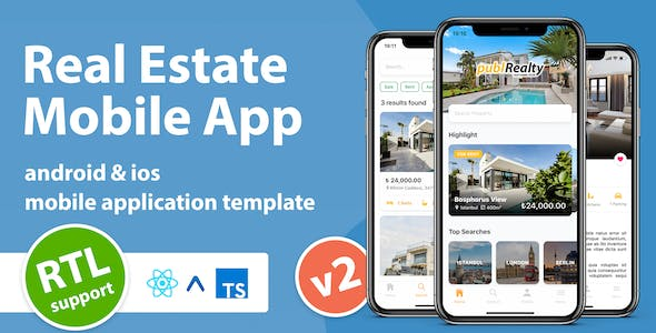 Real Estate Mobile App Template With React Native