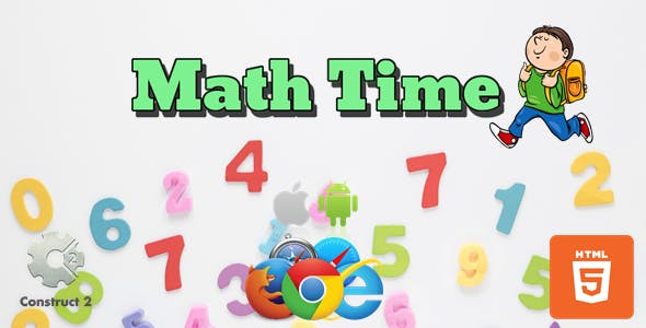 Math Time - HTML5 - Educational Game (.Capx)