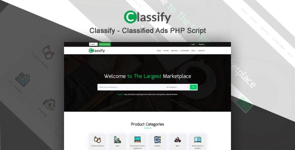 Classify - Classified Ads PHP Script
