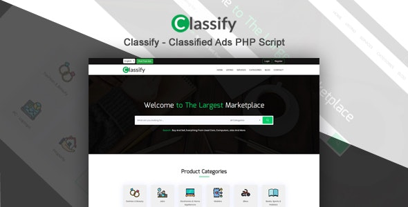 Classify - Classified Ads PHP Script - CodeCanyon Item for Sale