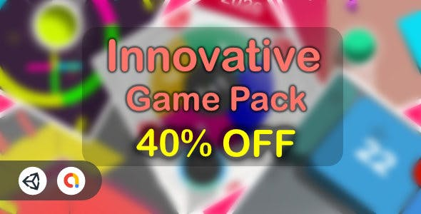 New Innovative Game Pack V1 - 5 Games (Unity Game+Admob+iOS+Android)