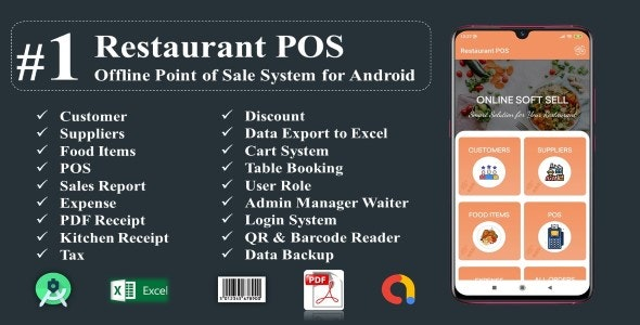 Restaurant POS-Offline Point of Sale System for Android - CodeCanyon Item for Sale