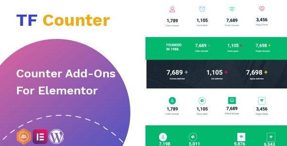 TfCounter - Counter widget For Elementor - CodeCanyon Item for Sale
