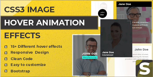 Savy - CSS3 Image Hover Animation Effects