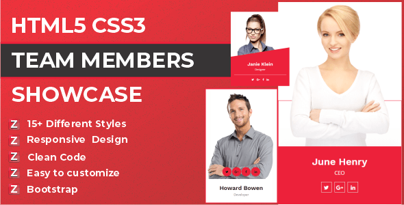 Zep - HTML5 CSS3 Team Members Template - CodeCanyon Item for Sale