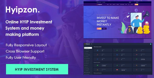 Hyipzon - Online Hyip Investment System and money making platform