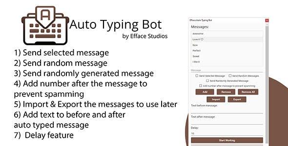 Efface Auto Typing Bot