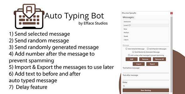 Efface Auto Typing Bot - CodeCanyon Item for Sale