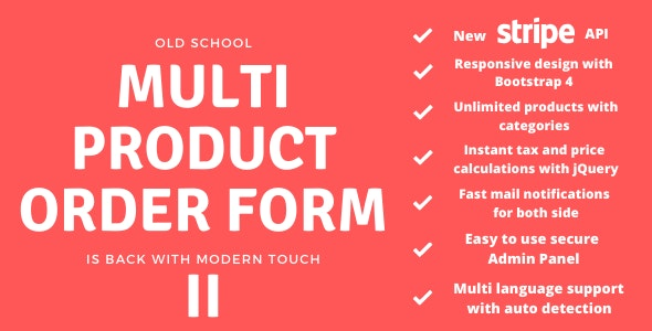 Multi Product Order Form 2 - CodeCanyon Item for Sale