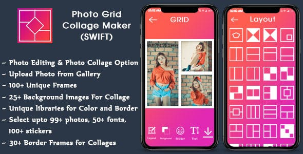 Collage Maker for IOS - Photo Editor (SWIFT)