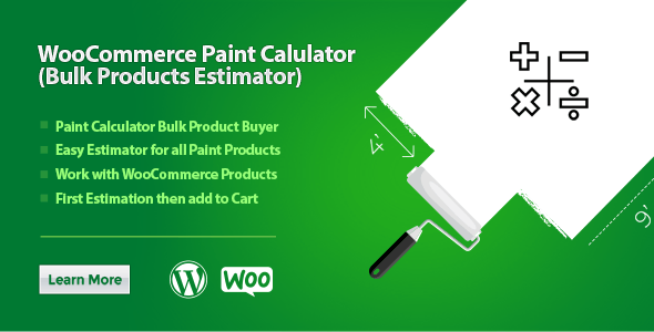 WooCommerce Paint Calculator (Bulk Products Estimator)