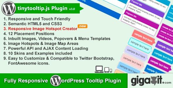 Tinytooltip.js - Responsive WordPress Tooltip Plugin - CodeCanyon Item for Sale
