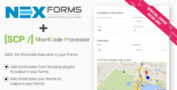 Shortcode Processor for NEX-Forms - CodeCanyon Item for Sale