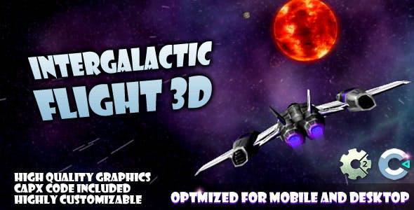 Intergalactic Flight (C2,C3,HTML5) Game.