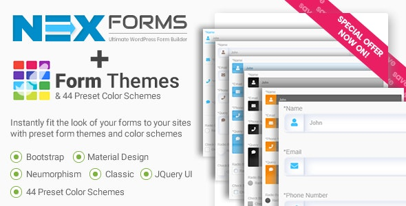 Form Themes for NEX-Forms - CodeCanyon Item for Sale