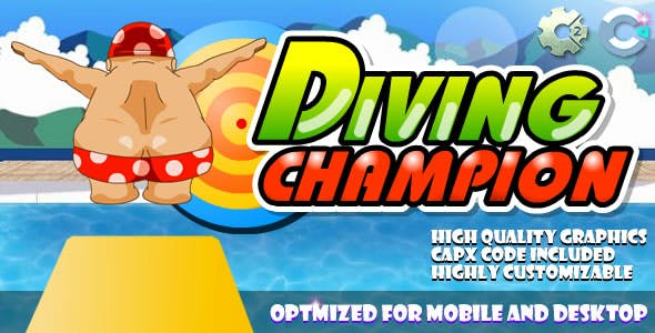 Diving Champion (C2,C3,HTML5) Game.