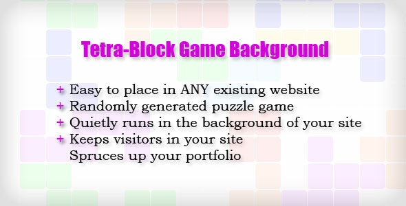 Tetra-Block Game Background - CodeCanyon Item for Sale
