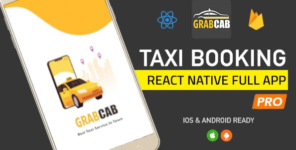 GrabCab Pro React Native Full Taxi App