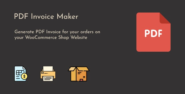 WooCommerce PDF Invoice Maker - CodeCanyon Item for Sale