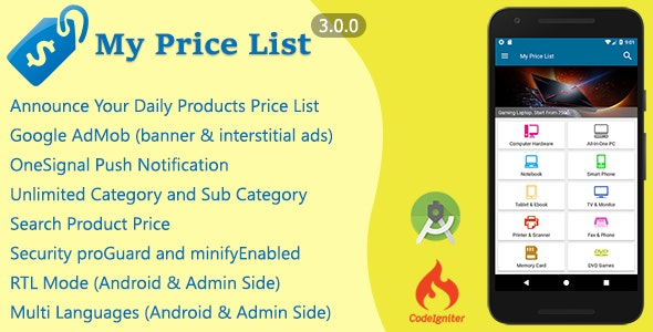 My Price List - CodeCanyon Item for Sale