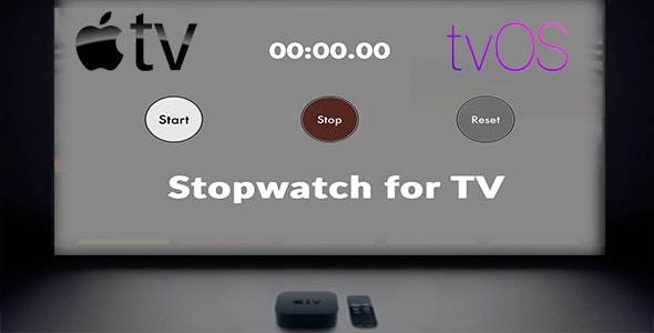 Stopwatch App for Apple TV - CodeCanyon Item for Sale