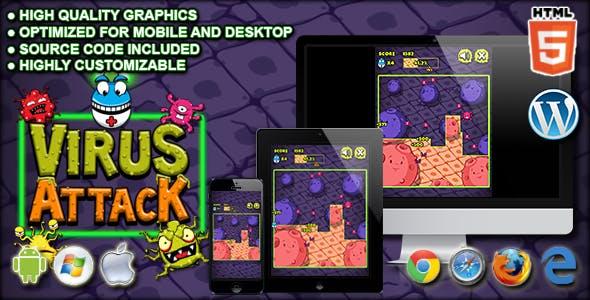 Virus Attack - HTML5 Arcade Game