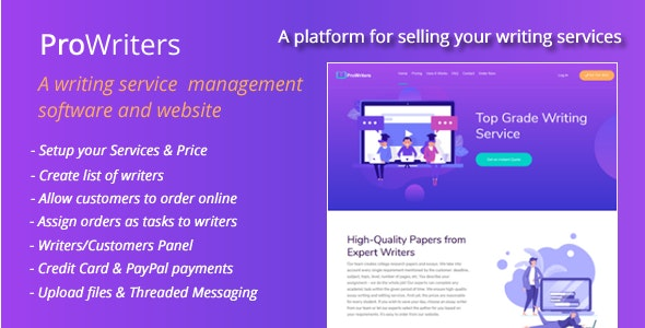ProWriters - Sell writing services online - CodeCanyon Item for Sale