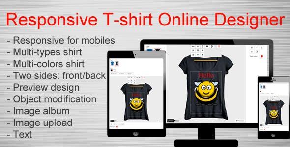 Responsive T-shirt Online Designer